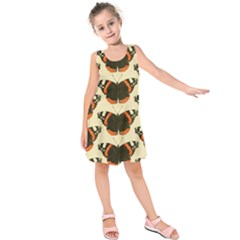 Butterfly Butterflies Insects Kids  Sleeveless Dress