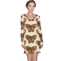 Butterfly Butterflies Insects Long Sleeve Nightdress