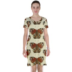 Butterfly Butterflies Insects Short Sleeve Nightdress