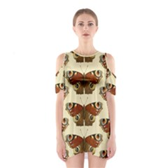 Butterfly Butterflies Insects Shoulder Cutout One Piece