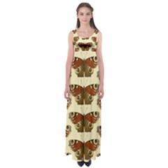 Butterfly Butterflies Insects Empire Waist Maxi Dress