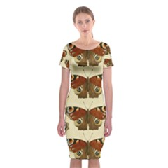 Butterfly Butterflies Insects Classic Short Sleeve Midi Dress
