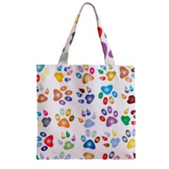 Colorful Prismatic Rainbow Animal Zipper Grocery Tote Bag