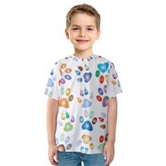 Colorful Prismatic Rainbow Animal Kids  Sport Mesh Tee