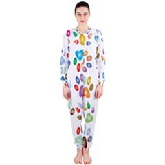 Colorful Prismatic Rainbow Animal Onepiece Jumpsuit (ladies)