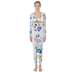 Colorful Prismatic Rainbow Animal Long Sleeve Catsuit