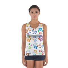 Colorful Prismatic Rainbow Animal Women s Sport Tank Top