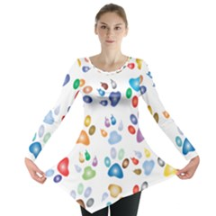 Colorful Prismatic Rainbow Animal Long Sleeve Tunic