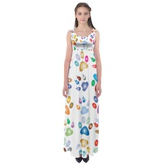 Colorful Prismatic Rainbow Animal Empire Waist Maxi Dress