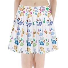 Colorful Prismatic Rainbow Animal Pleated Mini Skirt