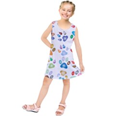 Colorful Prismatic Rainbow Animal Kids  Tunic Dress