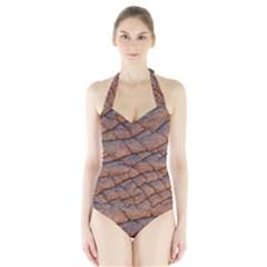 Elephant Skin Halter Swimsuit