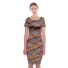 Elephant Skin Classic Short Sleeve Midi Dress