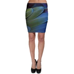 Feather Parrot Colorful Metalic Bodycon Skirt
