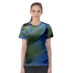 Feather Parrot Colorful Metalic Women s Sport Mesh Tee