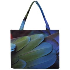 Feather Parrot Colorful Metalic Mini Tote Bag