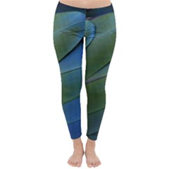 Feather Parrot Colorful Metalic Classic Winter Leggings
