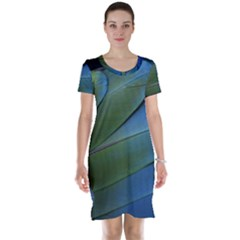 Feather Parrot Colorful Metalic Short Sleeve Nightdress