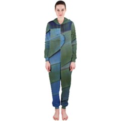 Feather Parrot Colorful Metalic Hooded Jumpsuit (ladies)