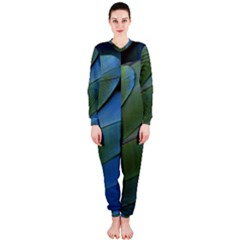 Feather Parrot Colorful Metalic Onepiece Jumpsuit (ladies)