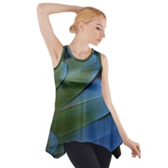 Feather Parrot Colorful Metalic Side Drop Tank Tunic