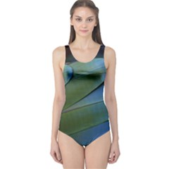 Feather Parrot Colorful Metalic One Piece Swimsuit