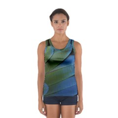 Feather Parrot Colorful Metalic Women s Sport Tank Top