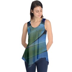 Feather Parrot Colorful Metalic Sleeveless Tunic