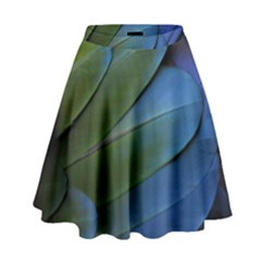 Feather Parrot Colorful Metalic High Waist Skirt