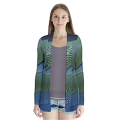 Feather Parrot Colorful Metalic Cardigans