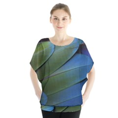 Feather Parrot Colorful Metalic Blouse