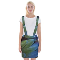 Feather Parrot Colorful Metalic Suspender Skirt