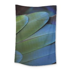 Feather Parrot Colorful Metalic Small Tapestry