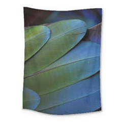 Feather Parrot Colorful Metalic Medium Tapestry