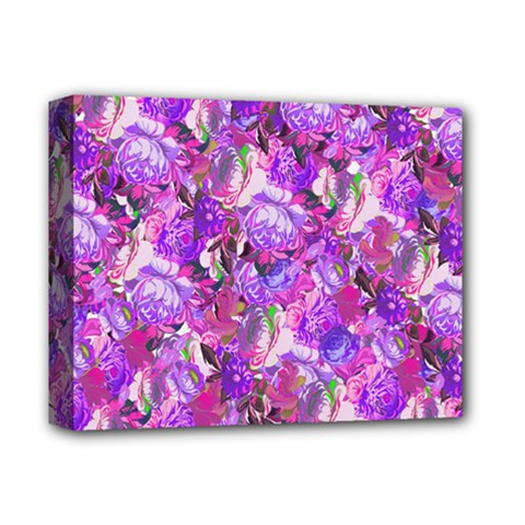 Flowers Abstract Digital Art Deluxe Canvas 14  X 11