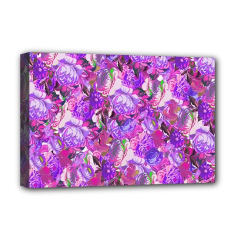 Flowers Abstract Digital Art Deluxe Canvas 18  X 12