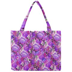 Flowers Abstract Digital Art Mini Tote Bag
