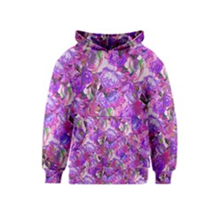Flowers Abstract Digital Art Kids  Pullover Hoodie