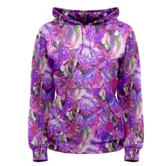 Flowers Abstract Digital Art Women s Pullover Hoodie