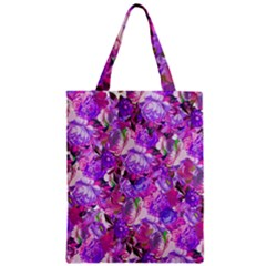 Flowers Abstract Digital Art Zipper Classic Tote Bag