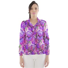Flowers Abstract Digital Art Wind Breaker (women)