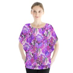 Flowers Abstract Digital Art Blouse