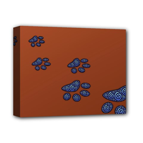 Footprints Paw Animal Track Foot Deluxe Canvas 14  X 11