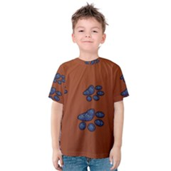 Footprints Paw Animal Track Foot Kids  Cotton Tee