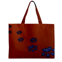 Footprints Paw Animal Track Foot Zipper Mini Tote Bag