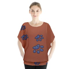 Footprints Paw Animal Track Foot Blouse