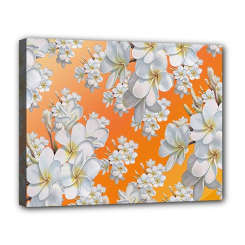 Flowers Background Backdrop Floral Canvas 14  X 11