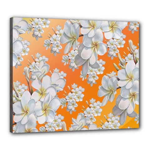 Flowers Background Backdrop Floral Canvas 24  x 20