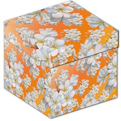 Flowers Background Backdrop Floral Storage Stool 12