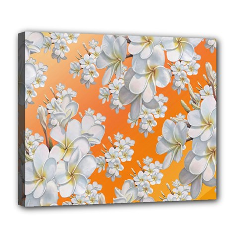 Flowers Background Backdrop Floral Deluxe Canvas 24  X 20